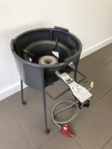 High pressure wok burner and stand