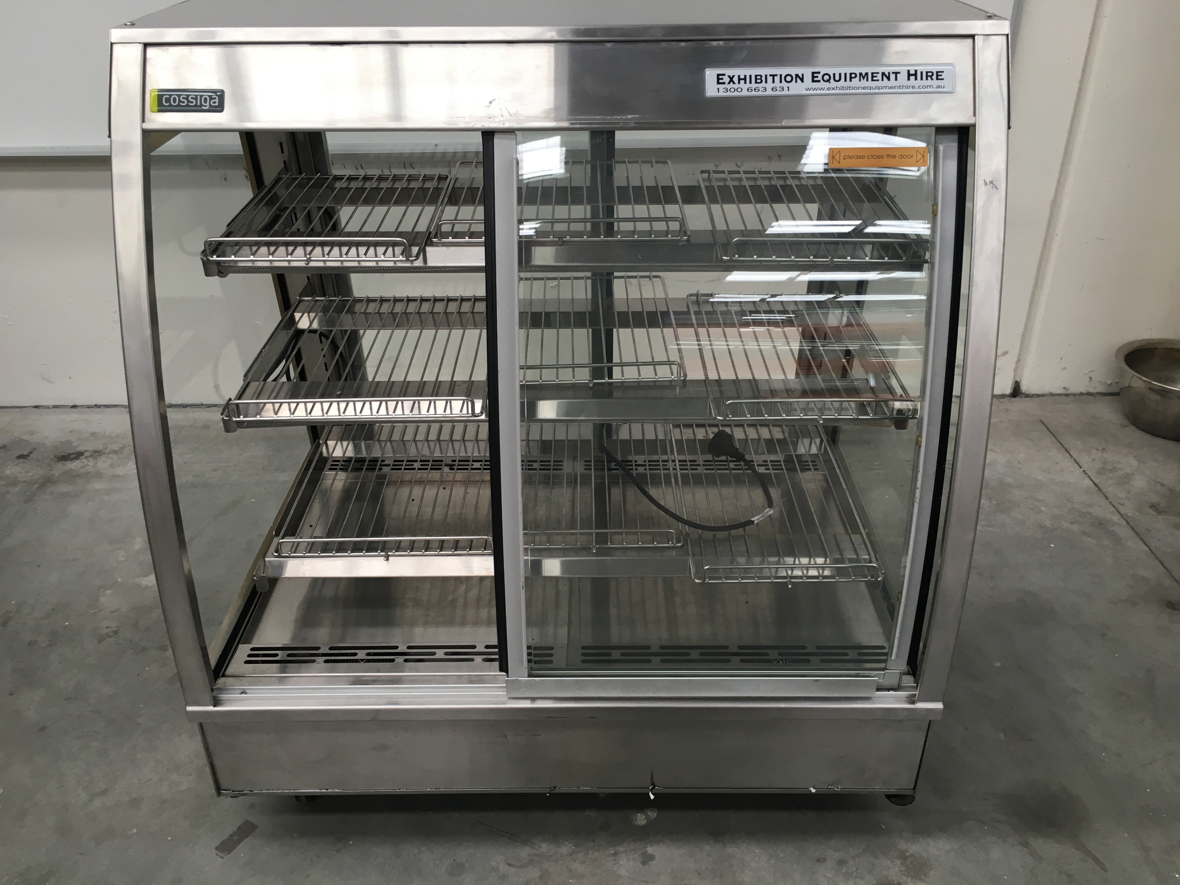Heated Display Cabinet Cossiga C4ht9 For Hire Exhire
